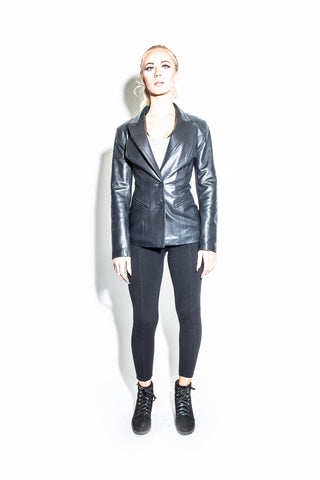 Women's West Coast Leather 2 Button Piping Jacket