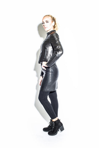 Women's Zip Moto Jacket