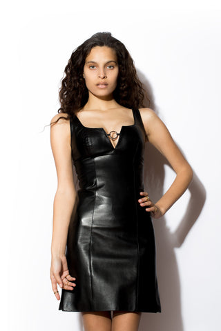 Women's West Coast Leather Ring Tank Dress