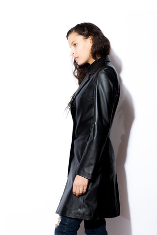 Women's West Coast Leather 4 Button 7/8's Coat