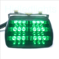 18 LED Dash Green Emergency Volunteer Firefighter Strobe Lights