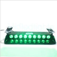 9 LED Dash Green Emergency Volunteer Firefighter Strobe Lights
