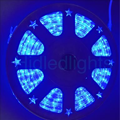 144ft Blue LED Rope Light 110V 2 Wire Christmas Flexible Lighting Outdoor