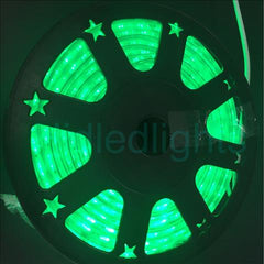 144ft Green LED Rope Light 110V 2 Wire Christmas Flexible Lighting Outdoor