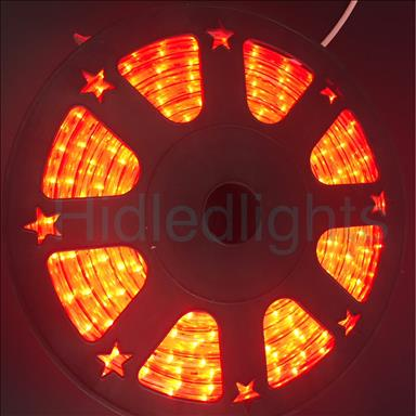 144ft Red LED Rope Light 110V 2 Wire Christmas Flexible Lighting Outdoor