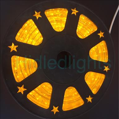 144ft Yellow LED Rope Light 110V 2 Wire Christmas Flexible Lighting Outdoor