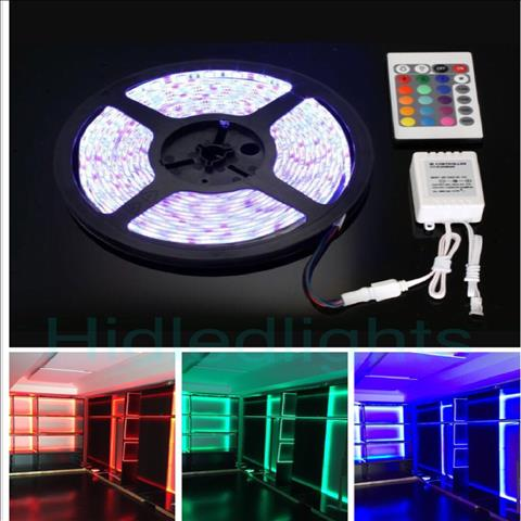 5M RGB LED Strip Lights Non Waterproof 300 SMD 5050