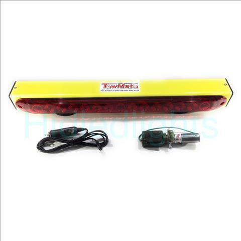 "New Towmate Yellow Sun Light TM22Y-4, TM22Y 22"" Wireless Tow Light"