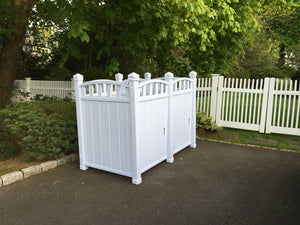 Outdoor Garbage Shed - Double Unit