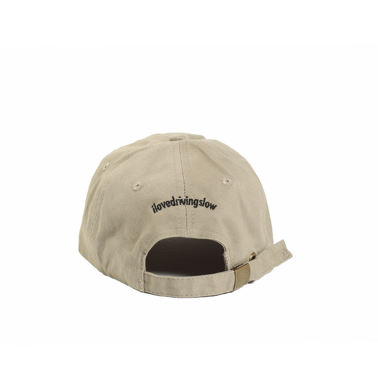 Khaki Racing Dad Cap