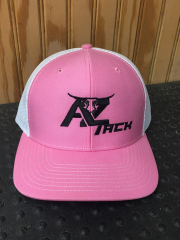 AZ Tack Mesh Back Richardson Cap Pink/White