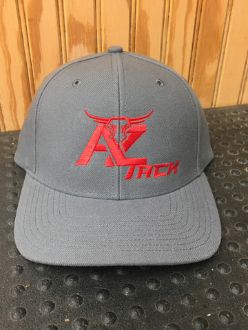 AZ Tack Solid Back Richardson Style514 Charcoal/Red Cap
