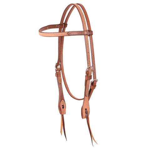 Natural Roughout Headstall Browband HB61SNT