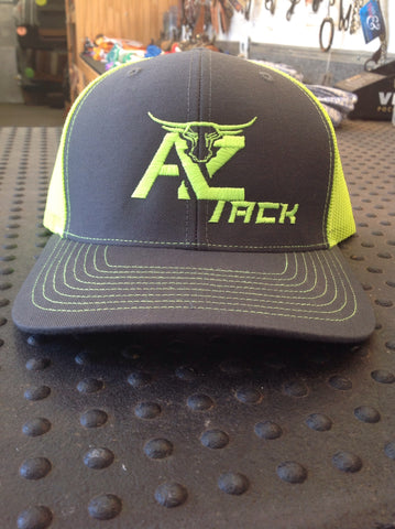 AZ Tack Mesh Back Richardson Cap Charcoal/Neon Yellow