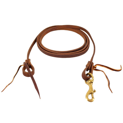 "5/8"" Harness Leather Cowboy Roping Rein"