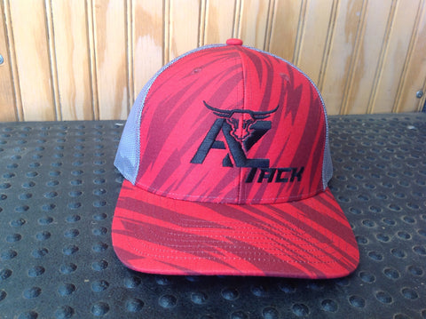 AZ Tack Mesh Back Richardson Style 112P STREAK RED CAMO/CHARCOAL Cap