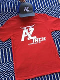 AZ Tack Adult T-Shirt Red/White