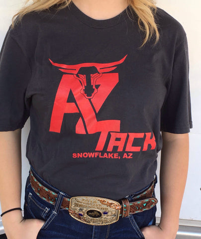 AZ Tack Adult Unisex T-Shirt Charcoal/Red