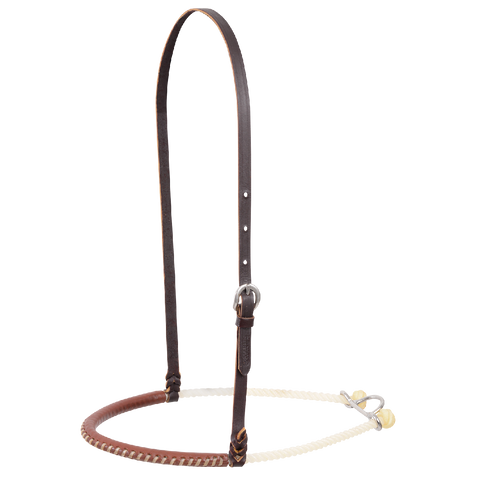 Single Rope Harness Leather Covered Noseband NB100SRL
