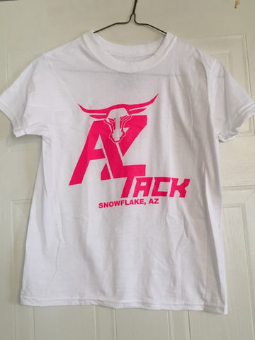 AZ Tack Youth T-Shirt White/Pink