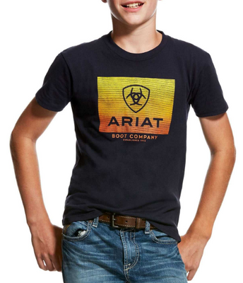 Ariat Boys Gradient Tee Navy