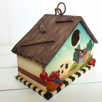 Birdhouse with Farm Scene
