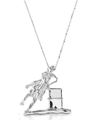 Kelly Herd Large Barrel Racing Pendant SS