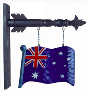 Australian Flag hang arrow