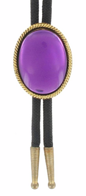 Large Oval SS Bolo Tie B129