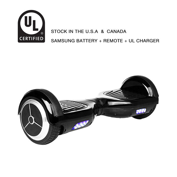 Classic Smart Balance Scooter 6.5 Inch Black - Smart Balance Board