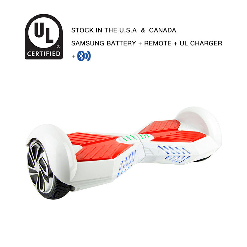 white lamborghini hoverboard bluetooth