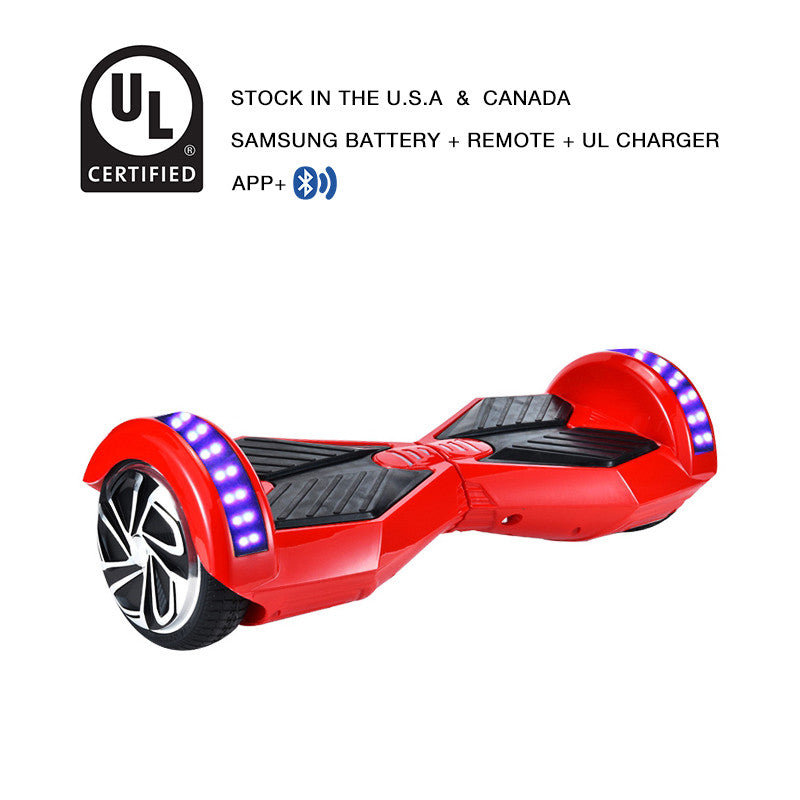app hoverboard bluetooth red
