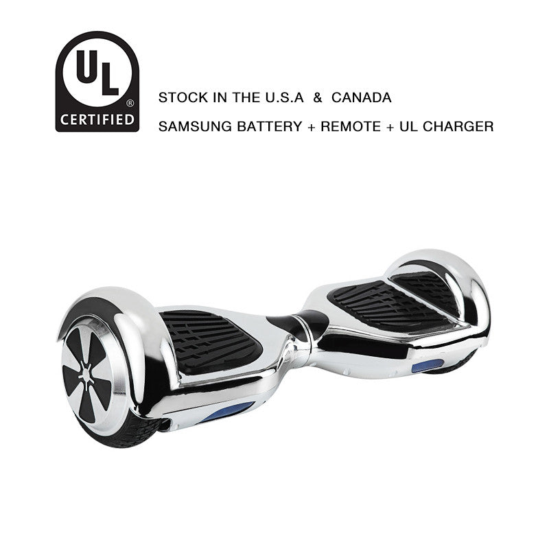 self balancing scooter chrome silver