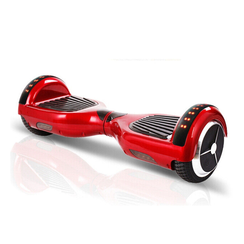 led smart balance wheel red
