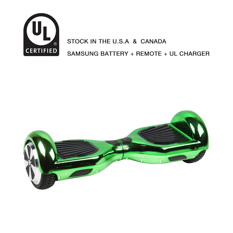 self balancing scooter chrome green