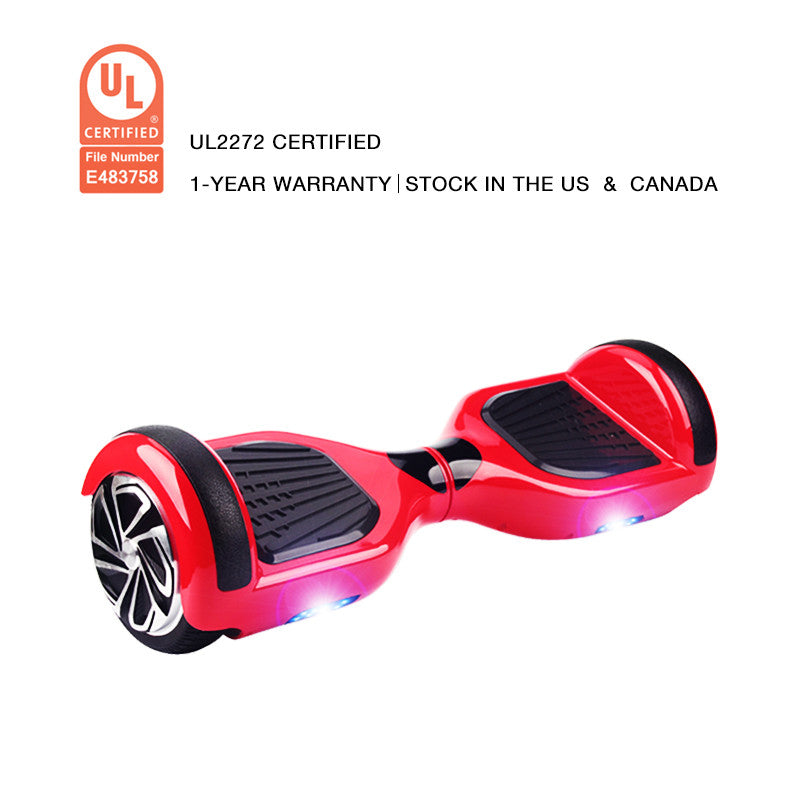 UL2272 Certification Hoverboard 6.5 Inch Smart Balance Wheel Red - Smart Balance Board
