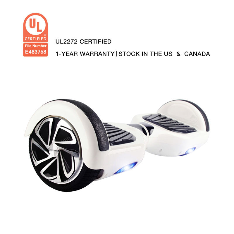 UL2272 Certification Hoverboard 6.5 Inch Smart Balance Wheel White - Smart Balance Board