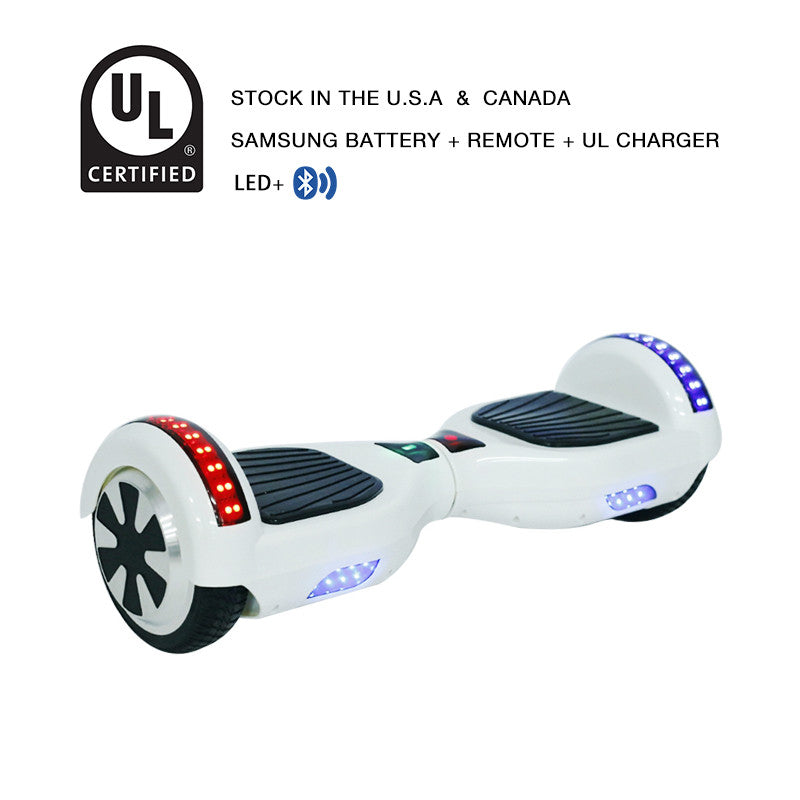 6.5 inch LED segway white