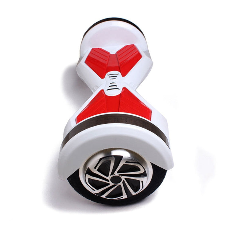 8 Inch APP Smart Balance wheel Bluetooth Hoverboard White/Red With LED One Wheels - Smart Balance Board