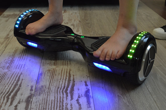 LED Classic Scooter Smart Balance Board 6.5 Inch Segway Black - Smart Balance Board