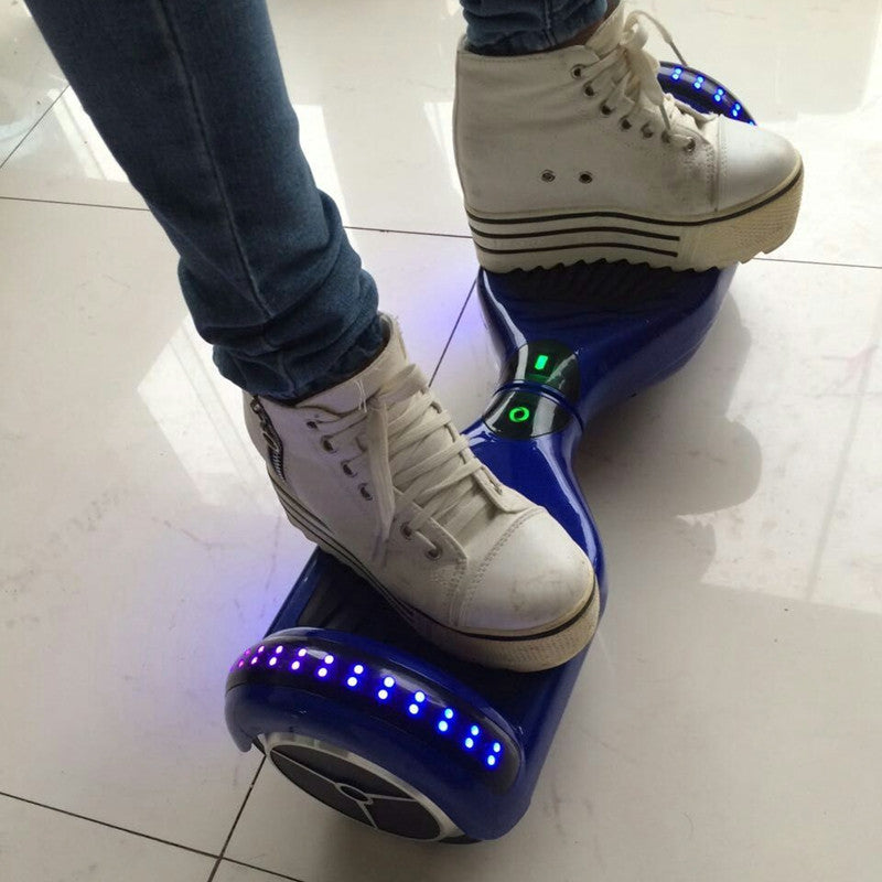 LED Classic Scooter Smart Balance Board 6.5 Inch Segway Blue - Smart Balance Board