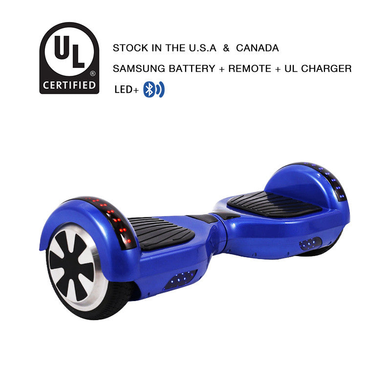 6.5 inch LED segway blue
