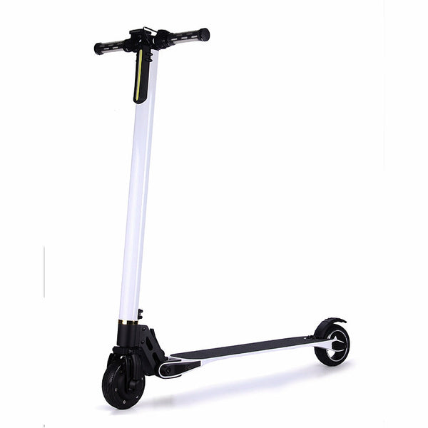 Lightest Carbon Fiber Electric Scooter White Foldable Kick Scooter - Smart Balance Board