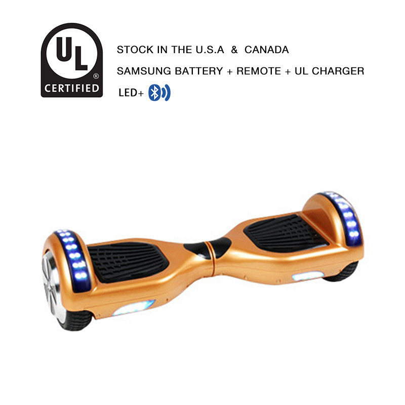 6.5 inch LED hoverboard champagne
