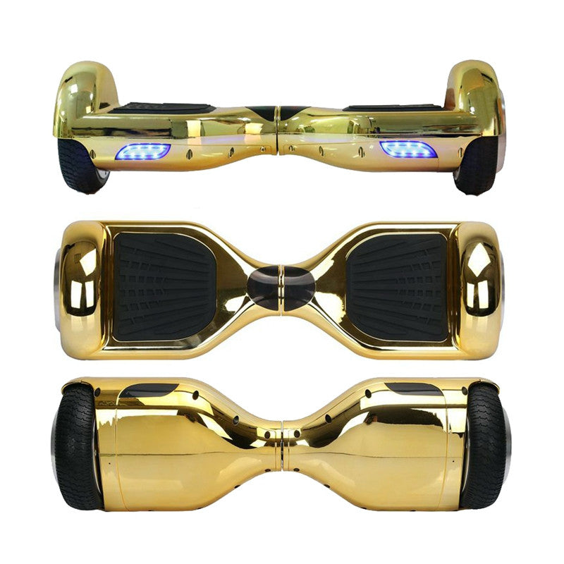 Classic Self Balancing Scooter 6.5 Inch Chrome Gold - Smart Balance Board