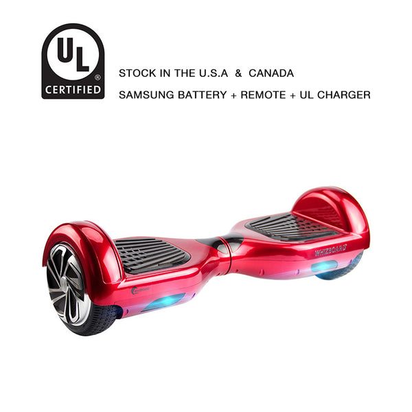 6.5 inch hoverboard chrome red