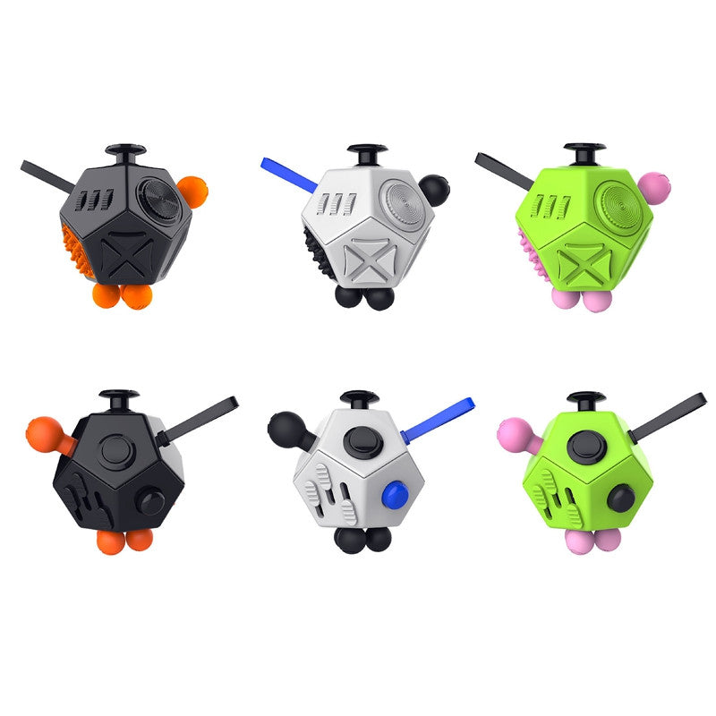 2017 Latest 12 Sided Fidget Cube High Quality Desk Toy Smart
