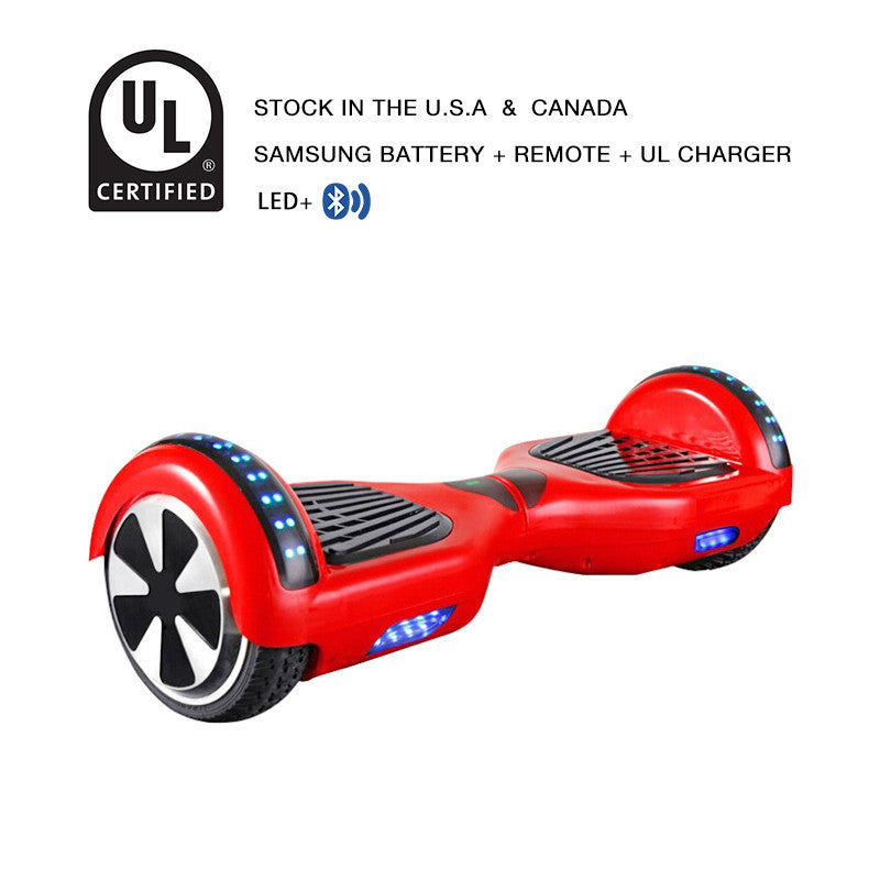 led hoverboard red
