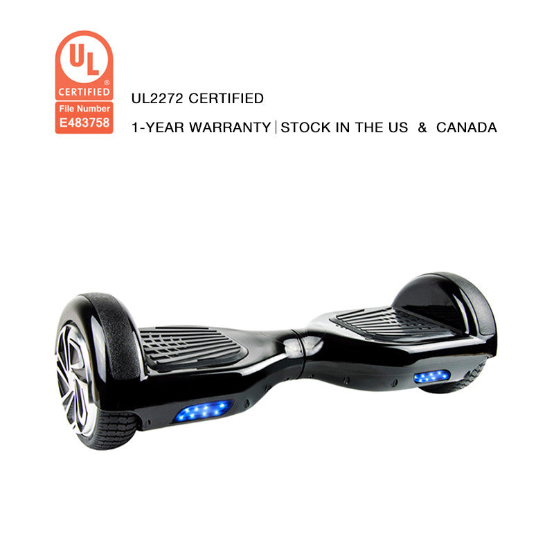 UL2272 CERTIFICATION HOVERBOARD BLACK