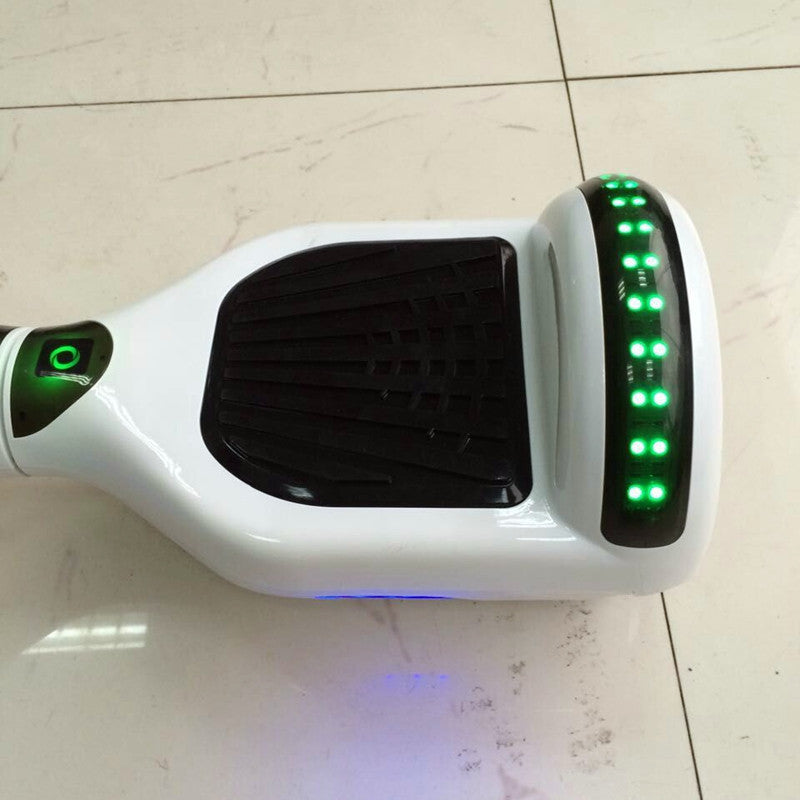 LED Classic Scooter Smart Balance Board 6.5 Inch Segway White - Smart Balance Board